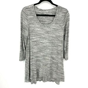 Soft Surroundings Space Dye Scoop Neck Tunic Top